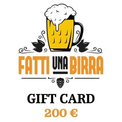 GIFT CARD da 200 €